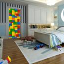 Walplus Door Decoration Sticker - Building Blocks