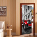 wholesale Wall Tattoos: Walplus Door Decoration Sticker - Vintage Car