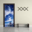 Walplus Door Decoration Sticker - Alien World