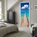 groothandel Wandtattoos: Walplus Deur  Decoratie Sticker - Strand Steiger