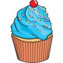 groothandel Food producten: Giggle Beaver Cupcake - Thee- en keukendoek - 65x4