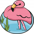 wholesale Bath & Towelling: Giggle Beaver Flamingo - Bath towel - 150x150 cm