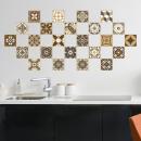 Walplus Dark Bronze Mosaic - Sticker mural / carre