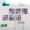 Walplus Royal - Wall sticker / Tile sticker - Blue