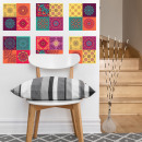 Walplus Colorful Mandala - Wall Sticker / Tegelsti