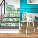 Walplus Turkish Mosaic - Wall sticker / Staircase