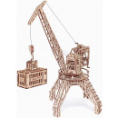 wholesale Models & Vehicles: Wood Trick Crane with Container - Wooden Model Bui