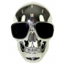 Skull Wireless Bluetooth Speaker - Silver