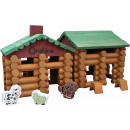 Großhandel Holzspielzeug: Holzblöcke - Blockhütte - 170 Stück