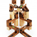 wholesale Toys: Wooden Blocks - Marble Track - 60 pieces