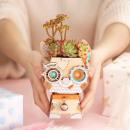 Robotime Puppy FT742- Holzmodellbau - Blumentopf