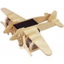 wholesale Toys: Robotime Bomber Plane P330 with solar cell- Houte