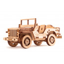 Wood Trick Jeep, Wooden Model Building