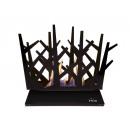 grossiste Meubles de jardin: Bio-cheminée de table en acier émaillé noir