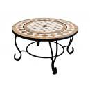 hurtownia Mieszkanie & Dekoracje: Okrągły ceramiczny i marmurowy stolik kawowy z br