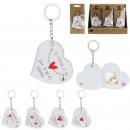 keychains photo heart, 4- times assorted