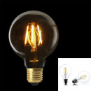 light bulb g80 e27 led right transparent, 1-time a