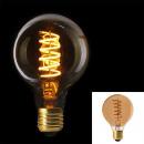 bulb g80 e27 led spiral amber, 1- times assorted