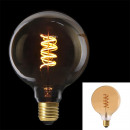bulb g125 e27 led spiral amber, 1- times assorted