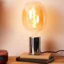 oval bulb 180x270mm e27 amber 6w
