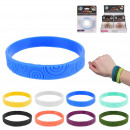 lemongrass silicone bracelet, 8-times assorted