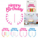 bougie x24 deco happy birthday et support x12, 4-f