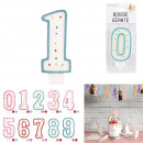 wholesale Party Items: giant birthday candle, 10-times assorted