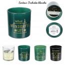 candle glass home deco art 7x8cm, 4- times assorte