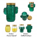 candle mason jar cactus and pineapple, 4- times as
