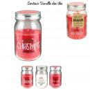 grossiste Maison et cuisine: bougie parfumee vanille bocal noel h13cm, 3-fois a