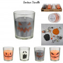 wholesale Candles & Candleholder: candle glass halloween 5.5x7cm, 4- times assorted