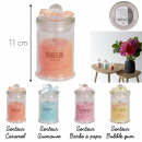 bougie parfumee bonbonniere h11.5cm, 4-fois ...