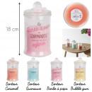bougie parfumee bonbonniere h18cm, 4-fois assorti