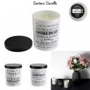 bougie parfumee vanille regle famille h9cm, 2-fois