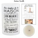 bougie parfumee vase blanc famille h25cm