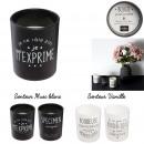 grossiste Parfums: bougie parfumee humeur h9cm, 4-fois assorti