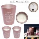 grossiste Maison et habitat: bougie parfumee vase 2 meches maman h16cm, 2-fois