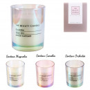 beauty factory glass candle, 3- times assorted