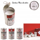 metal emergency candle 11x7cm, 3- times assorted