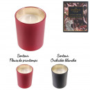 bohemian glass candle and box, 2- times assorted