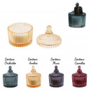 bohemian candle ecrin glass 6.5x9cm, 4-time assor