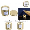 candle metal pot dore golden dream 7.7x7.3cm, 2-fo