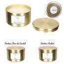 candle metal pot dore golden dream 9x12.4cm, 2-fai