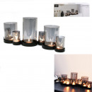 wholesale Candles & Candleholder: gray glass tealight holder