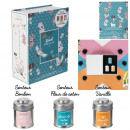 bougie parfumee metal x3 coffret the