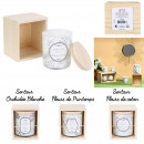 natural candle wooden box, 3- times assorted
