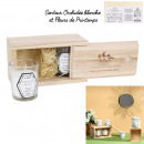 natural candle x2 wooden box