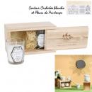 bougie parfumee nature x2 coffret bois h6.5cm