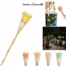 citronella scent bamboo torch candle, 4-fold
