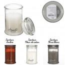 bougie parfumee top verre aromatic h12.8cm, 3-fois